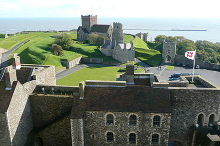 Dover Castle, view south-east from the Great Tower,Kent © Graham Horn